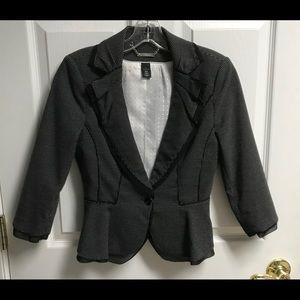WHBM Black/White Small Polka Dot Blazer / Jacket